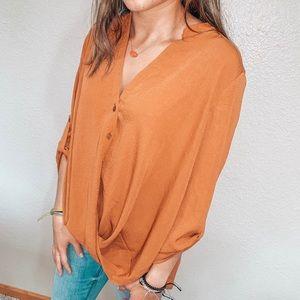 Burnt Orange Dress Shirt